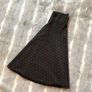 Black with gold dots Agnes & Dora MIDI Skirt